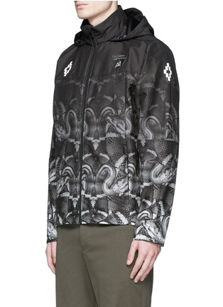 Front View - Click To Enlarge - Marcelo Burlon - 'Lamborghini' snake print zip jacket