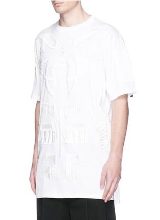 Front View - Click To Enlarge - Marcelo Burlon - 'Cabaiguan' patch embroidery T-shirt