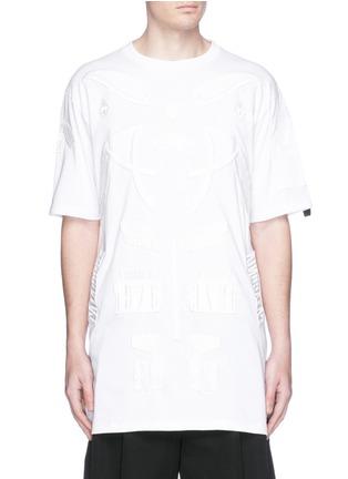 Main View - Click To Enlarge - Marcelo Burlon - 'Cabaiguan' patch embroidery T-shirt