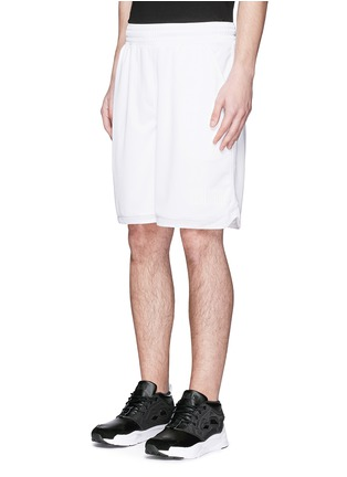 Front View - Click To Enlarge - Marcelo Burlon - 'Vallegrande' logo embroidery shorts