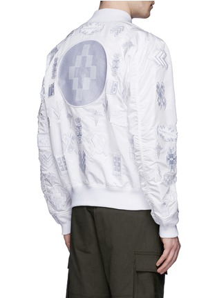 Back View - Click To Enlarge - Marcelo Burlon - 'Alpha Industries' patch embroidery bomber jacket