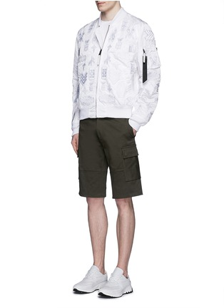 Figure View - Click To Enlarge - Marcelo Burlon - 'Alpha Industries' patch embroidery bomber jacket