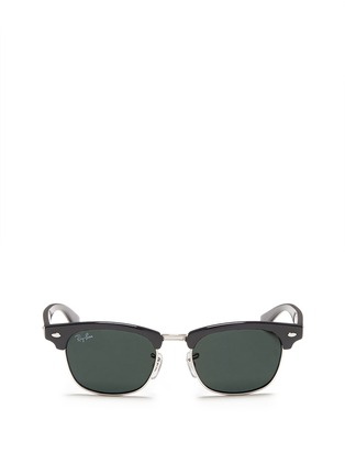 Main View - Click To Enlarge - Ray-Ban - 'Clubmaster Junior' browline sunglasses