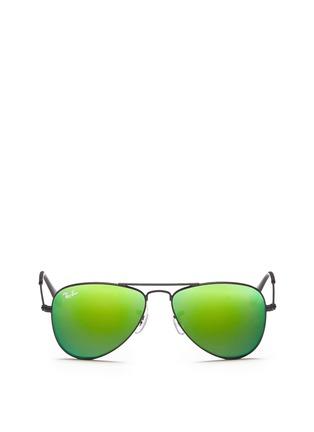 Main View - Click To Enlarge - RAY-BAN - Aviator Junior' metal sunglasses
