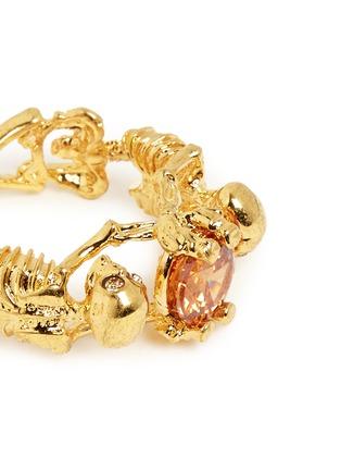 Detail View - Click To Enlarge - Alexander McQueen - Skeleton crystal ring