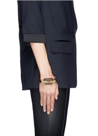 Figure View - Click To Enlarge - Alexander McQueen - Bridge glass stone bracelet