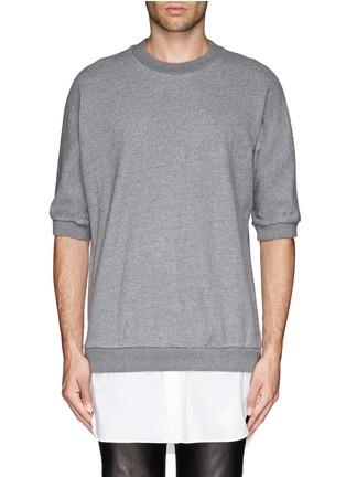 Main View - Click To Enlarge - 3.1 Phillip Lim - Shirt tail sweatshirt