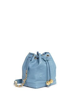 Vintage Chanel CC charm leather bucket bag