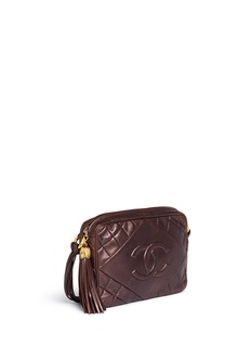 Vintage Chanel Metallic quilted leather tassel bag