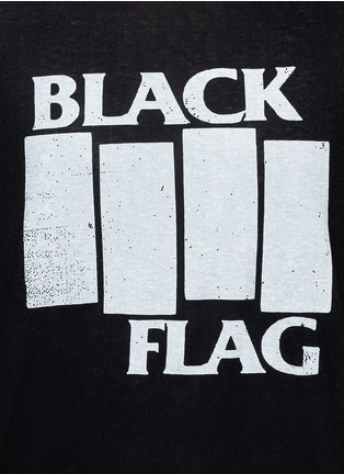 Detail View - Click To Enlarge - R13 - 'BLACK FLAG' Japanese cotton-cashmere T-shirt