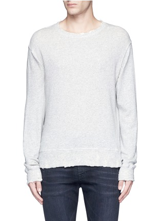 Main View - Click To Enlarge - R13 - 'Vintage' distressed French terry sweatshirt