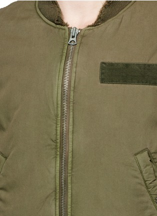 Detail View - Click To Enlarge - R13 - 'Destroyed' cotton flight jacket