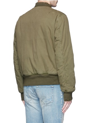 Back View - Click To Enlarge - R13 - 'Destroyed' cotton flight jacket