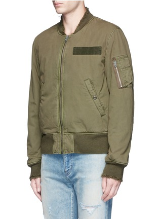 Front View - Click To Enlarge - R13 - 'Destroyed' cotton flight jacket