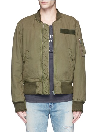 Main View - Click To Enlarge - R13 - 'Destroyed' cotton flight jacket