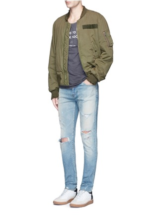 Figure View - Click To Enlarge - R13 - 'Destroyed' cotton flight jacket