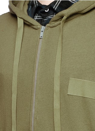 Detail View - Click To Enlarge - R13 - 'Civilian' French terry zip hoodie