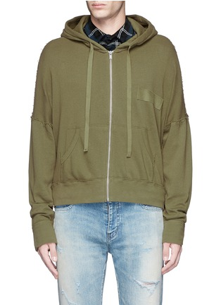 Main View - Click To Enlarge - R13 - 'Civilian' French terry zip hoodie