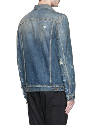 Back View - Click To Enlarge - R13 - 'Zipper Trucker' distressed denim jacket