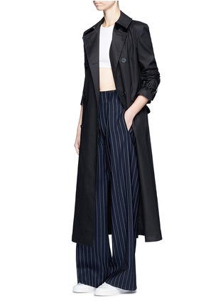 Figure View - Click To Enlarge - DKNY - Belted cotton midi trench coat