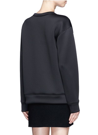 Back View - Click To Enlarge - Dkny - 'Designers Know Nothing Yet' print scuba jersey sweatshirt