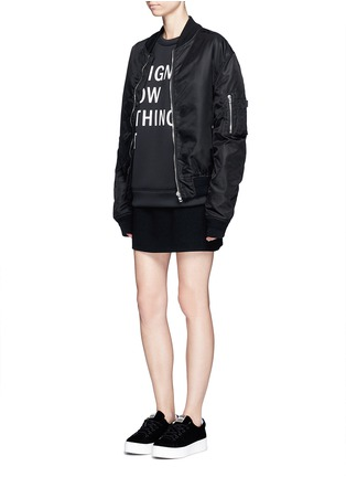 Figure View - Click To Enlarge - Dkny - 'Designers Know Nothing Yet' print scuba jersey sweatshirt