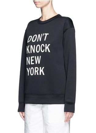 Front View - Click To Enlarge - Dkny - 'Don't Knock New York' print scuba jersey sweatshirt