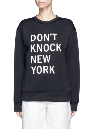 Main View - Click To Enlarge - Dkny - 'Don't Knock New York' print scuba jersey sweatshirt