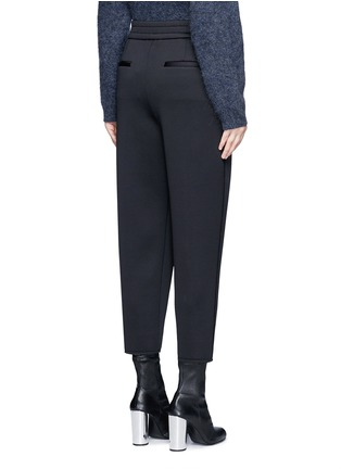Back View - Click To Enlarge - Dkny - Pleated scuba jersey cropped pants