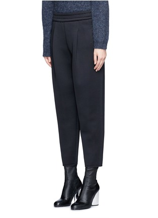 Front View - Click To Enlarge - Dkny - Pleated scuba jersey cropped pants