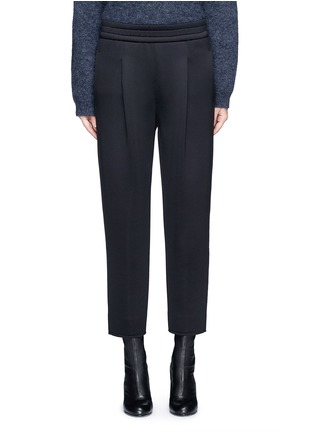 Main View - Click To Enlarge - Dkny - Pleated scuba jersey cropped pants