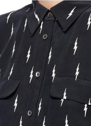 Detail View - Click To Enlarge - Equipment - x Kate Moss 'Slim Signature' lightning print silk shirt