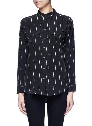 Main View - Click To Enlarge - Equipment - x Kate Moss 'Slim Signature' lightning print silk shirt