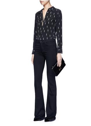 Figure View - Click To Enlarge - Equipment - x Kate Moss 'Slim Signature' lightning print silk shirt