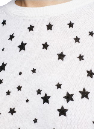 Detail View - Click To Enlarge - EQUIPMENT - x Kate Moss 'Ryder' celestial print cashmere sweater