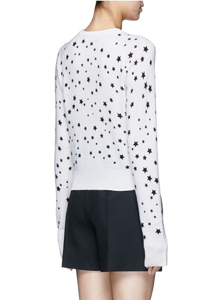 Back View - Click To Enlarge - EQUIPMENT - x Kate Moss 'Ryder' celestial print cashmere sweater