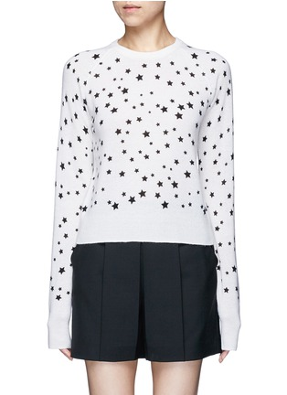 Main View - Click To Enlarge - EQUIPMENT - x Kate Moss 'Ryder' celestial print cashmere sweater