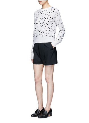 Figure View - Click To Enlarge - EQUIPMENT - x Kate Moss 'Ryder' celestial print cashmere sweater