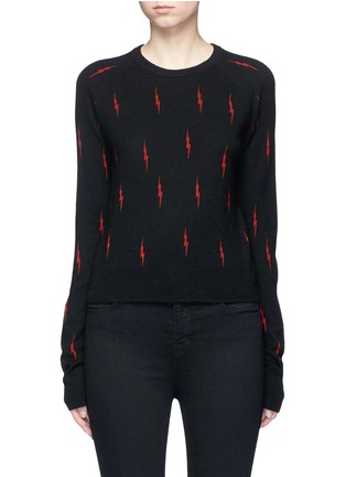 Main View - Click To Enlarge - Equipment - x Kate Moss 'Ryder' lightning print cashmere sweater
