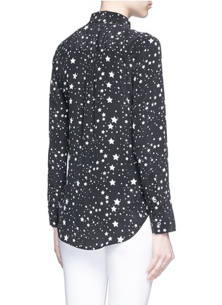 Back View - Click To Enlarge - Equipment - x Kate Moss 'Slim Signature Clean' star print silk shirt