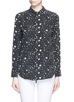 Main View - Click To Enlarge - EQUIPMENT - x Kate Moss 'Slim Signature Clean' star print silk shirt