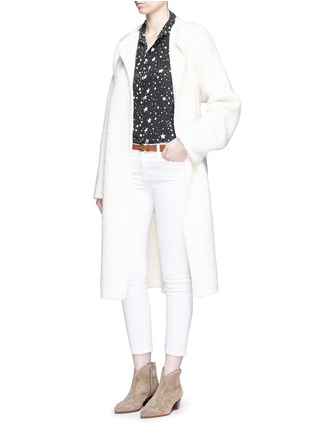 Figure View - Click To Enlarge - EQUIPMENT - x Kate Moss 'Slim Signature Clean' star print silk shirt