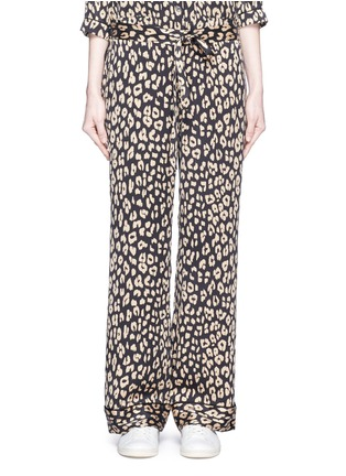 Main View - Click To Enlarge - Equipment - 'Avery' leopard print silk pyjama pants
