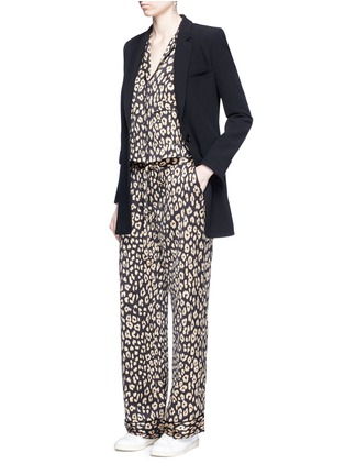 Figure View - Click To Enlarge - Equipment - 'Avery' leopard print silk pyjama pants