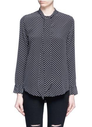 Main View - Click To Enlarge - Equipment - x Kate Moss 'Collarless Slim Signature' star print silk shirt