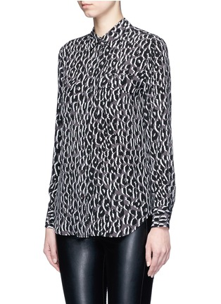 Front View - Click To Enlarge - EQUIPMENT - 'Slim Signature' quartz print silk shirt