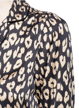 Detail View - Click To Enlarge - Equipment - x Kate Moss 'Lake' leopard print pyjama top