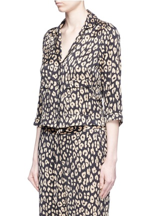 Front View - Click To Enlarge - Equipment - x Kate Moss 'Lake' leopard print pyjama top