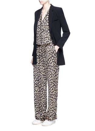 Figure View - Click To Enlarge - Equipment - x Kate Moss 'Lake' leopard print pyjama top