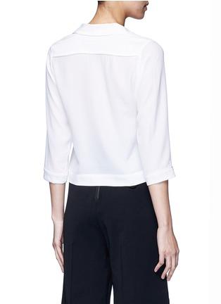 Back View - Click To Enlarge - Equipment - x Kate Moss 'Lake' KM initial silk pyjama top